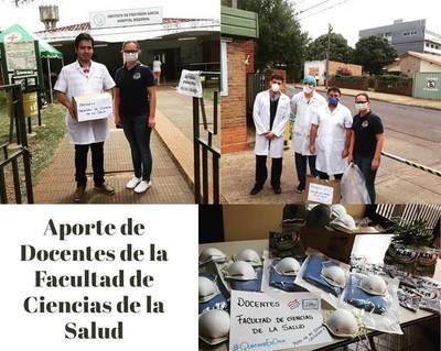 DOCENTES DE LA FACULTAD DE SALUD UCI DONAN INSUMOS AL HOSPITAL E IPS.