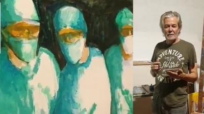 Koki Ruiz homenajeó a los artistas de blanco