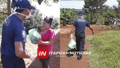 BOMBEROS DE MAYOR OTAÑO ENTREGAN COMBOS DE VÍVERES A FAMILIAS DE ESCASOS RECURSOS.