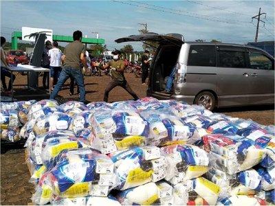 CDE: Comerciantes entregan kits alimenticios a sectores vulnerables