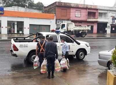 Donativos de alimentos e insumos serán distribuidos a comisarías de Asunción
