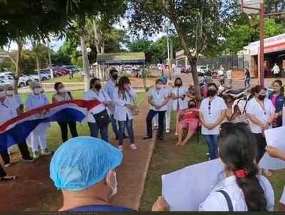 Enfermeros exigen equipos de protección en Ciudad del Este