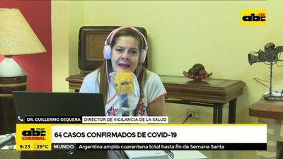 64 casos confirmados de COVID-19