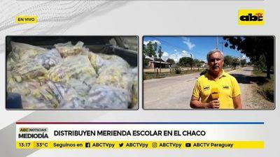 Distribuyen merienda escolar en el Chaco