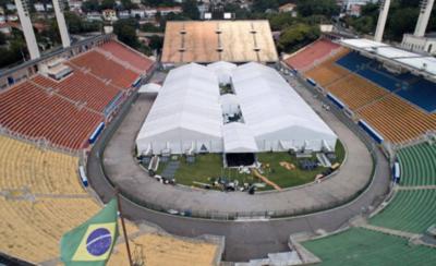 HOY / Mítico estadio brasileño pasa a funcionar como centro hospitalario