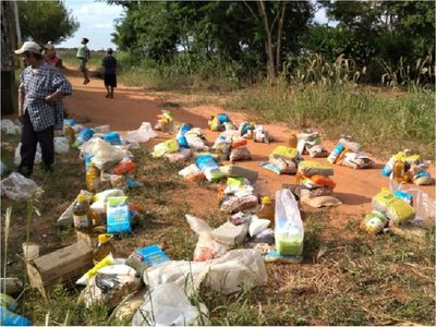 Caaguazú: Cacique dice pasar hambre y el Indi asegura entrega de víveres