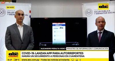 Lanzan app para el monitoreo de personas llegadas del exterior