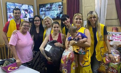 Leones paraguayos ayudan a los más necesitados durante la cuarentena