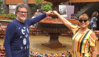 HOY / El ritual de desinfección de Pelusa Rubin y Emilio García en TikTok