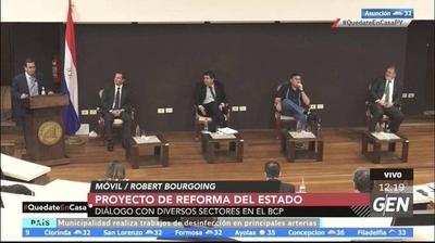 HOY / En el Banco Central del Paraguay (BCP) varios sectores analizan el proyecto de reforma del estado