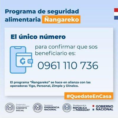 Inició la transferencia de dinero por parte del Estado en el programa Ñangareko