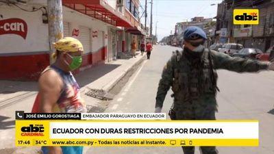 Ecuador con duras restricciones ante pandemia