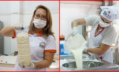 Comuna produce y dona 2 mil litros de leche y 500 kilos de panificados