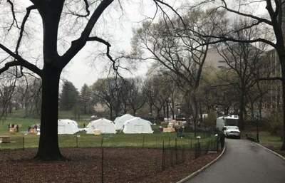 El icónico Central Park se convierte en hospital temporal
