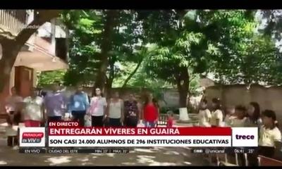 HOY / Reciben  Kits de alimentos unas 296 instituciones del Departamento de Guairá