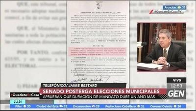 HOY / El senado posterga las elecciones municipales e internas ante la pandemia del coronavirus