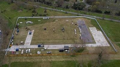 Construyen en Londres una morgue del tamaño de dos campos de fútbol para albergar a víctimas del coronavirus