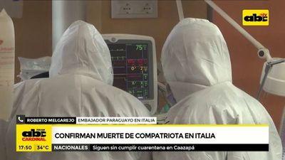 Covid-19: Confirman muerte de compatriota en Italia