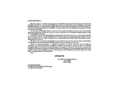 Aguatera  San Lorenzo busca solución a  crisis con Essap