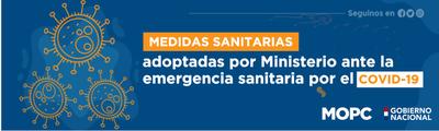 Obras Públicas cumple protocolo sanitario del coronavirus