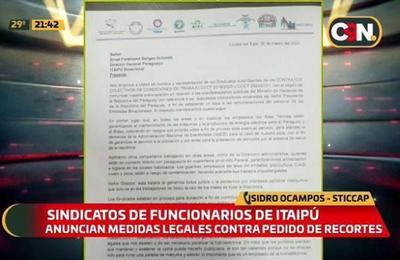 Sindicatos de Itaipú divididos ante el recorte salarial