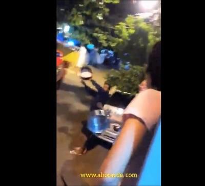 """""""CACEROLAZO"""" pidiendo comida en barrio de CDE"""