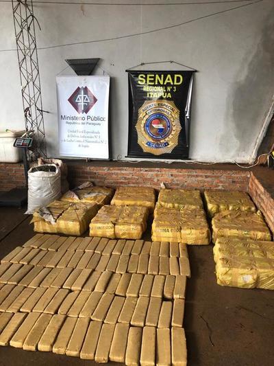 Senad incautó más de 400 kilos de marihuana en Itapúa