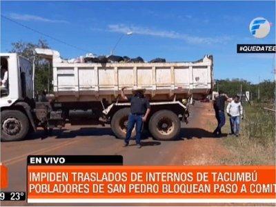 San Pedro: Ciudadanos impidieron el acceso a reos provenientes de la capital
