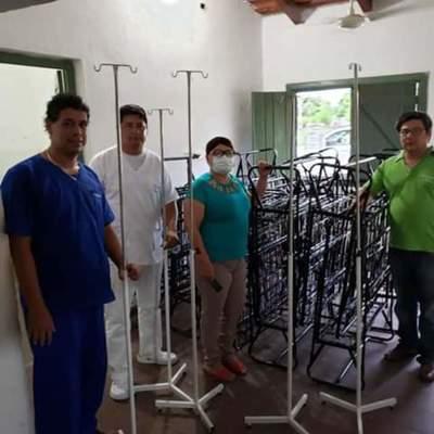 Centro de Salud de Casado recibe camas portátiles de parte de municipio