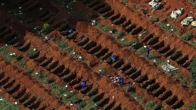 Se prepara el Cementerio más grande del Brasil para enterrar a los muertos por coronavirus