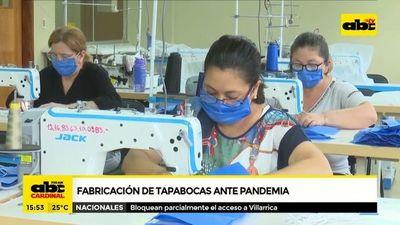 Industriales reconocen falta de personal y materia prima para fabricar tapabocas