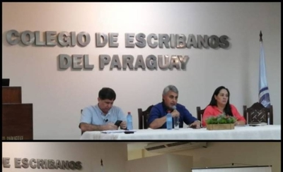 HOY / Roberto Escobar, presidente del Colegio de Esribanos, mencionó que al aclararse lo de los plazos registrales, hubo una mayor tranquilidad