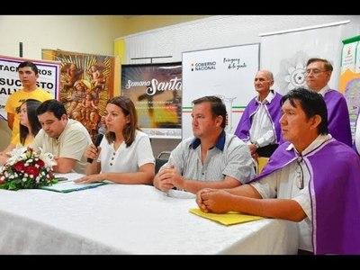 PRESENTAN CALENDARIO DE ACTIVIDADES DEPARTAMENTALES POR SEMANA SANTA