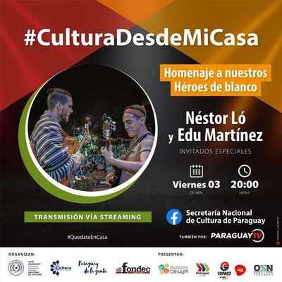Hoy homenajearán a héroes de blanco en festival «Cultura desde mi casa»