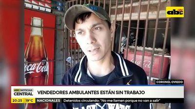 Coronel Oviedo: Vendedores ambulantes están sin trabajo