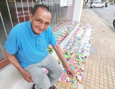 Abuelito por fin vendió sus libros