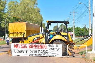 Varios municipios bloquean la entrada