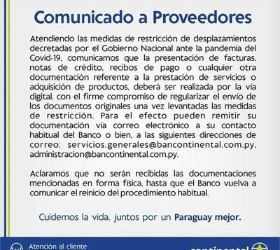 Cuarentena: Banco Continental informa que trámites se realizarán exclusivamente por medios digitales