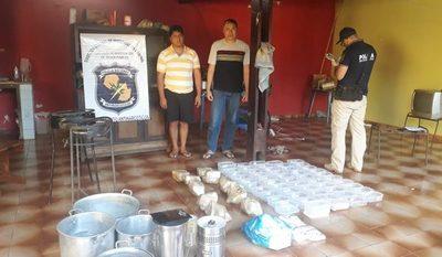 Detienen a dos bolivianos con drogas durante allanamieto