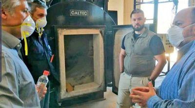 Horno de la SENAD se adaptará para cremar entre cinco y seis cuerpos por día