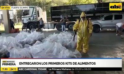 Fuerte Olimpo: Entregaron los primeros kits de alimentos