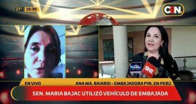Bajac utilizó vehículo de Embajada en Perú