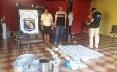 Bolivianos detenidos con importante carga de droga en una vivienda