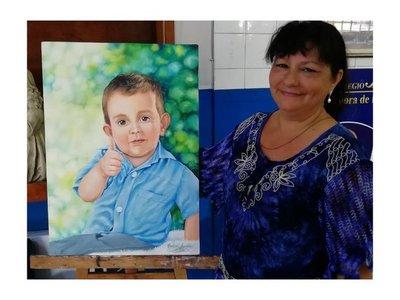 Pintaron retrato de Brunito para el oratorio que se levantó en su casa