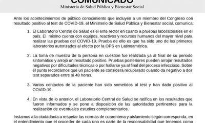Salud ratifica que Bajac estuvo con coronavirus y encima infectó a otras personas