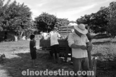 Humilde productor de mandioca regaló dos mil kilos de mandioca de su chacra a vecinos de un asentamiento de Yby Yaú