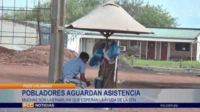 POBLADORES DE POZO COLORADO AGUARDAN ASISTENCIA DE LA SEN