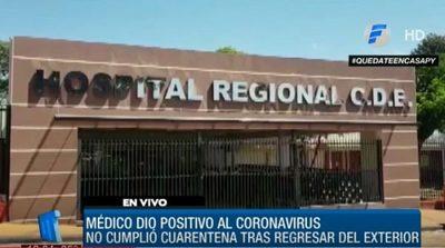 Médico con Covid-19 positivo realizó una cirugía durante su cuarentena