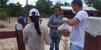Regional Alto Chaco de la ARP reparte 3 mil kilos de carne a familias carenciadas del Alto Paraguay
