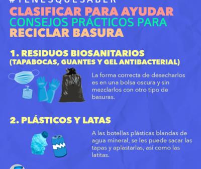 Clasificar para ayudar: Consejos prácticos para reciclar la basura